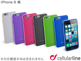 cellularline Color Slim カラー ラバーケース for iPhone 6