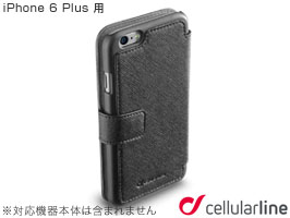 cellularline Book Agenda 手帳型 レザーケース for iPhone 6 Plus