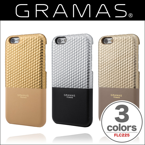 "GRAMAS FEMME Back Leather Case ""Hex"" FLC225 for iPhone 6s/6"