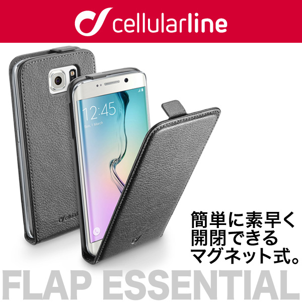 cellularline Flap Essential レザー フリップ 縦開きケース for Galaxy S6 edge SC-04G/SCV31