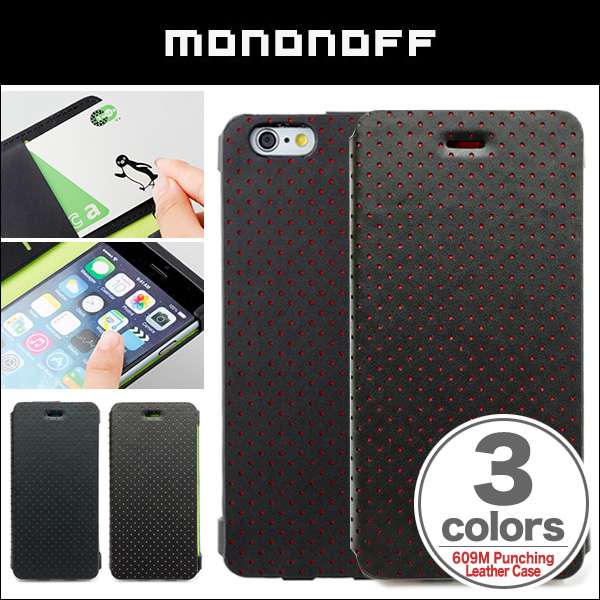 mononoff 609M Punching Leather Case for iPhone 6s/6