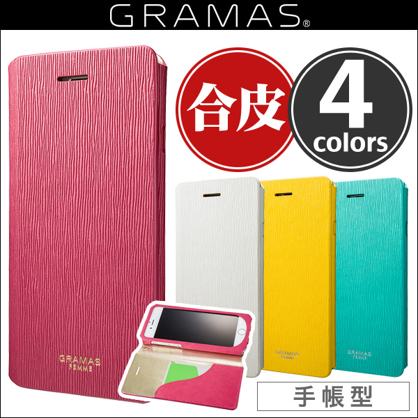"GRAMAS FEMME ""Colo"" FLC2126 Flap Leather Case for iPhone 6s / 6"
