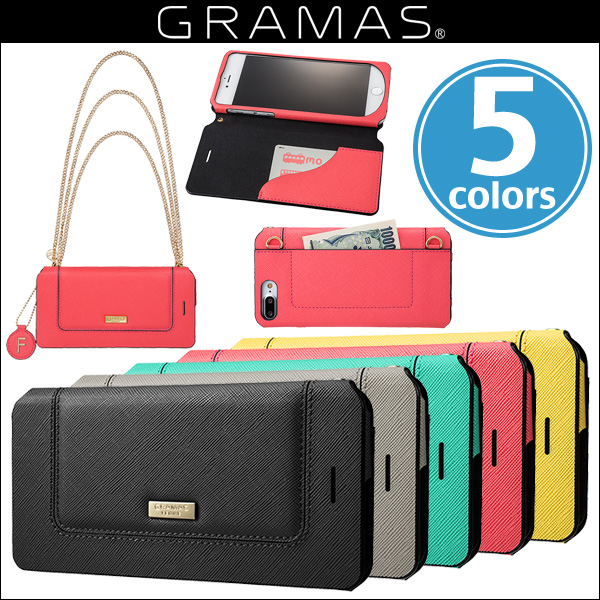 "GRAMAS FEMME ""Sac"" Bag Type Leather Case FLC296P for iPhone 7 Plus"