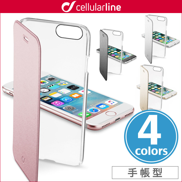 cellularline Clear Book 手帳型カード収納ケース for iPhone 7