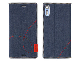 Zenus Denim Stitch Diary for Xperia XZ SO-01J / SOV34
