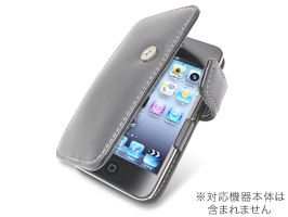 PDAIR レザーケース for iPod touch(4th gen.) 横開きタイプ