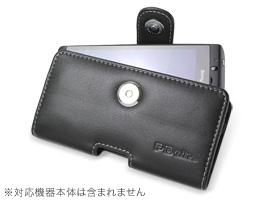 PDAIR レザーケース for Xperia(TM) acro SO-02C/IS11S ポーチタイプ