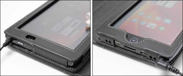 PDAIR レザーケース for Acer ICONIA TAB A100 横開きタイプ(ブラック)