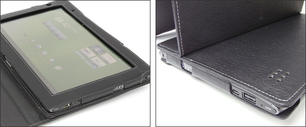 PDAIR レザーケース for Iconia Tab A500 横開きタイプVer.2