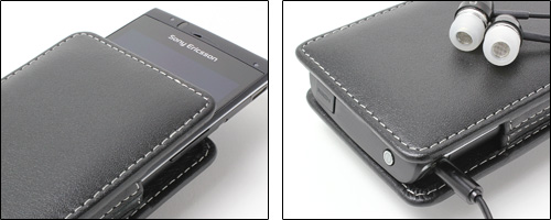 PDAIR レザーケース for Xperia(TM) acro SO-02C/IS11S バーティカルポーチタイプ