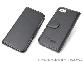 PDAIR レザーケース for iPhone SE / 5s / 5 横開きタイプ