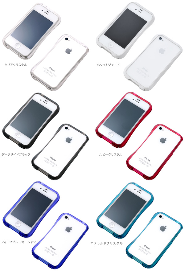 カラー CLEAVE BUMPER for iPhone 4S/4 CRYSTAL EDITION