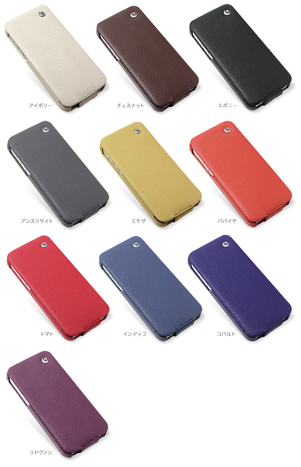 カラー Noreve Ambition Selection レザーケース for iPhone 5