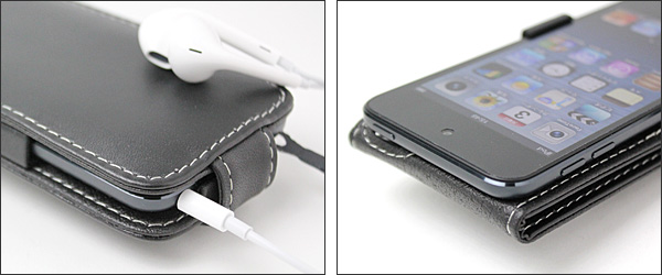PDAIR レザーケース for iPod touch(5th gen.) 縦開きタイプ