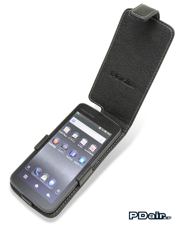 PDAIR レザーケース for AQUOS PHONE IS13SH 縦開きタイプ