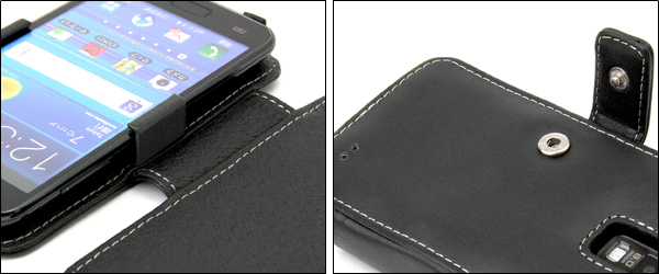PDAIR レザーケース for GALAXY S II LTE SC-03D 横開きタイプ