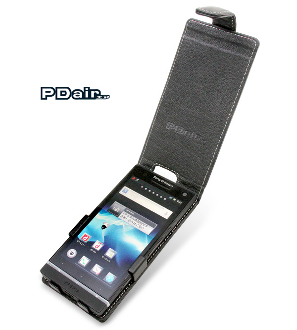 PDAIR レザーケース for Xperia NX SO-02D 縦開きタイプ