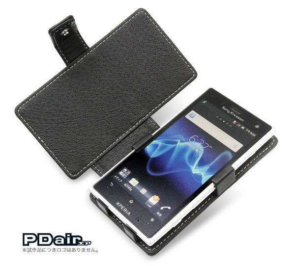 PDAIR レザーケース for Xperia acro HD SO-03D/IS12S 横開きタイプ