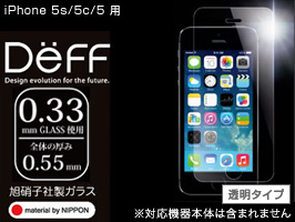 High Grade Glass Screen Protector for iPhone 5s/5c/5(指紋防止/防汚処理)