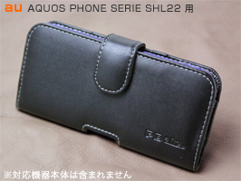 PDAIR レザーケース for AQUOS PHONE SERIE SHL22 ポーチタイプ