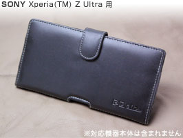 PDAIR レザーケース for Xperia (TM) Z Ultra SOL24/SGP412JP ポーチタイプ