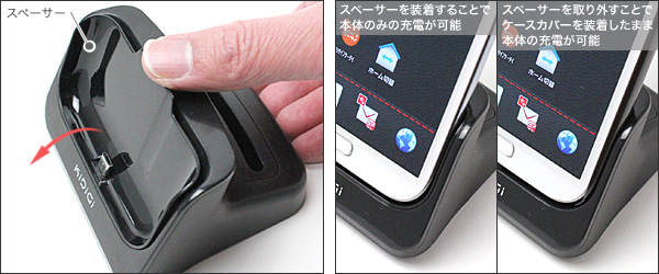 Kidigi USBクレードル for GALAXY Note II SC-02E with 2ndバッテリー充電器
