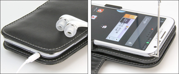 PDAIR レザーケース for GALAXY Note II SC-02E 横開きタイプ