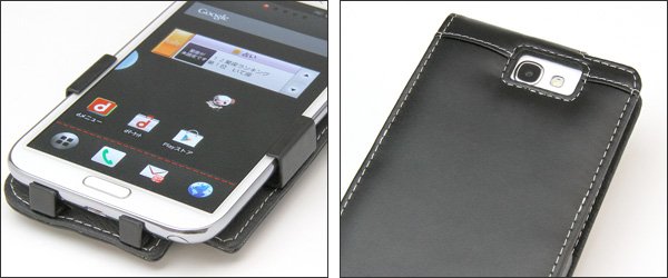 PDAIR レザーケース for GALAXY Note II SC-02E 縦開きタイプ