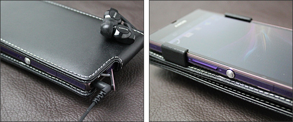 PDAIR レザーケース for Xperia Z SO-02E 縦開きタイプ