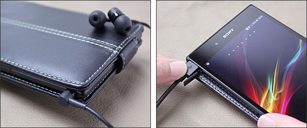 PDAIR レザーケース for Xperia Z Ultra 縦開きボトムタイプ