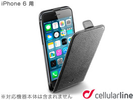 cellularline Flap Essential レザー フリップ 縦開きケース for iPhone 6