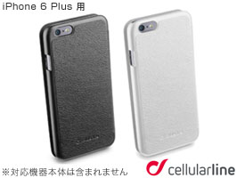 cellularline Book Essential レザー 手帳型ケース for iPhone 6 Plus