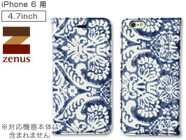 Zenus Denim Paisley Diary for iPhone 6