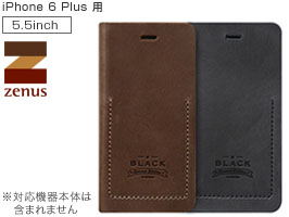 Zenus Black Tesoro Diary for iPhone 6 Plus