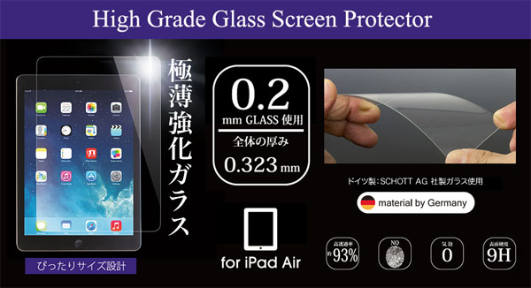 High Grade Glass Screen Protector for iPad Air