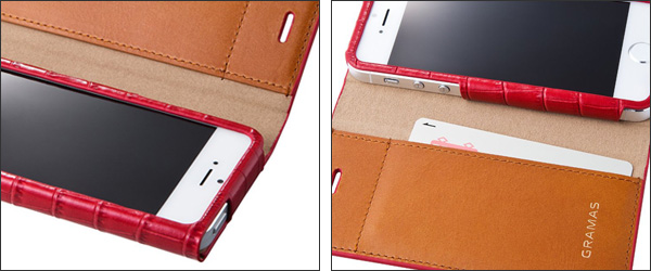 GRAMAS LC814 Croco Leather Case for iPhone 5s/5