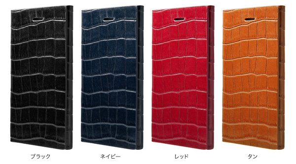 カラー GRAMAS LC814 Croco Leather Case for iPhone 5s/5