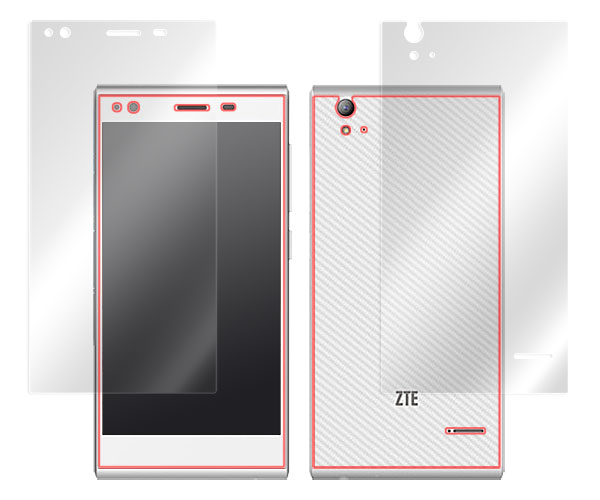 Overlay Brilliant for ZTE Blade Vec 4G『表・裏両面セット』