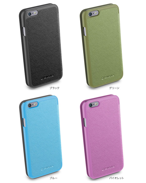 カラー cellularline Book Color レザー 手帳型ケース for iPhone 6