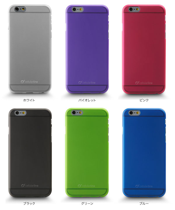 カラー cellularline Color Slim カラー ラバーケース for iPhone 6