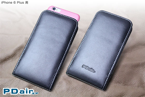 be049e0451 PDAIR レザーケース for iPhone 6 Plus with Case バーティカルポーチタイプ