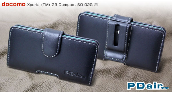PDAIR レザーケース for Xperia (TM) Z3 Compact SO-02G ポーチタイプ