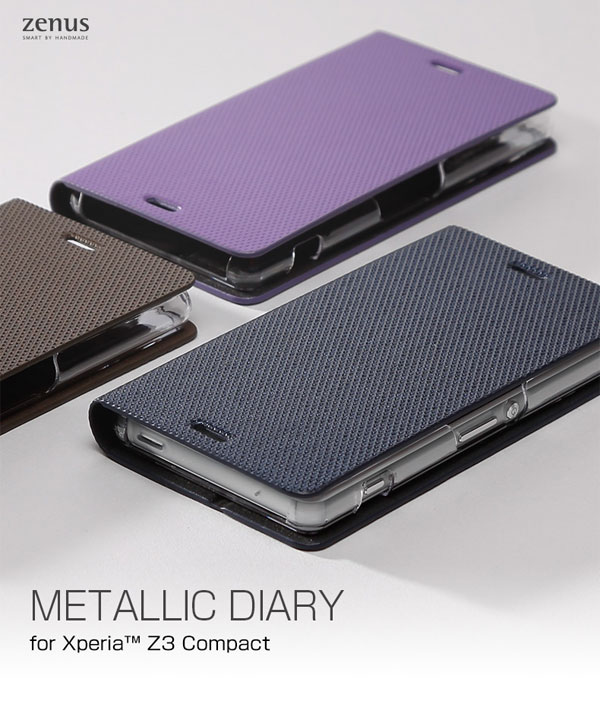 Zenus Metallic Diary for Xperia (TM) Z3 Compact SO-02G