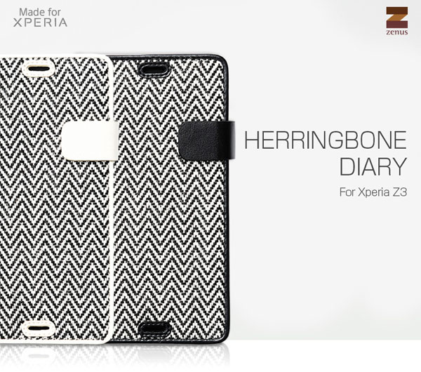 Zenus Herringbone Diary for Xperia (TM) Z3 SO-01G/SOL26/401SO