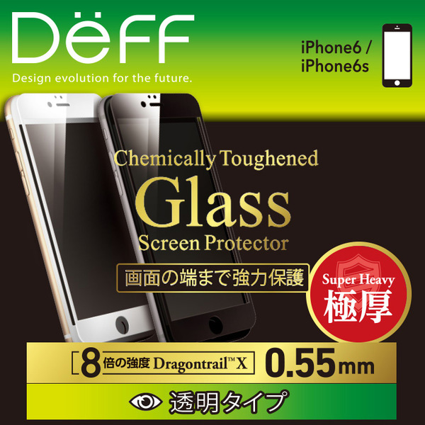 High Grade Glass Screen Protector Full Front 0.55mm DragonTrai for iPhone 6s/6