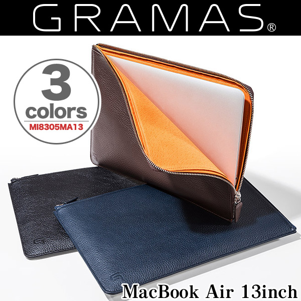 GRAMAS Meister Leather Sleeve Case MI8305MA13 for MacBook Air 13インチ(Early 2015/Early 2014/Mid 2013/Mid 2012/Mid 2011/Late 2010)