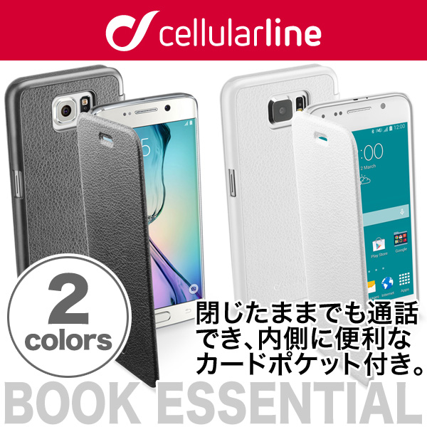 cellularline Book Essential レザー 手帳型ケース for Galaxy S6 SC-05G