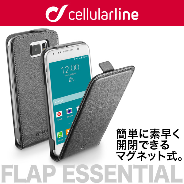 cellularline Flap Essential レザー フリップ 縦開きケース for Galaxy S6 SC-05G