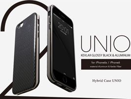 Hybrid Case UNIO Kevler Black for iPhone 6s/6