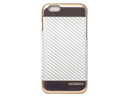 monCarbone Curve Case for iPhone 6s/6(パールホワイト)